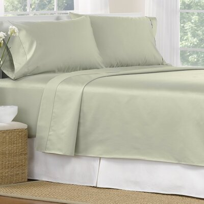4 Piece 1000 Thread Count Egyptian Quality Cotton Sheet Set Size: Queen, Color: Sage