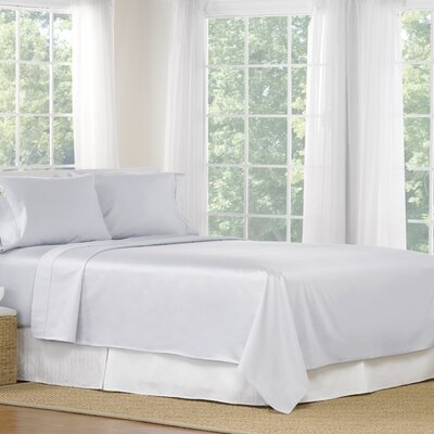 4 Piece 1200 Thread Count Egyptian Quality Cotton Sheet Set Color: Blue, Size: California King