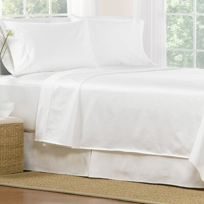 4 Piece 1000 Thread Count Egyptian Quality Cotton Sheet Set Color: White, Size: California King