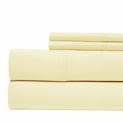 300 Thread Count 4 Piece Sheet Set Color: Ivory, Size: King