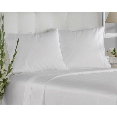 400 Thread Count Cotton Solid Pillowcases Size: King