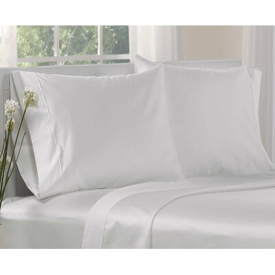 1000 Thread Count Cotton Solid Pillowcases Size: Standard