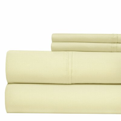 4 Piece 500 Thread Count Sheet Set Color: Ivory, Size: California King