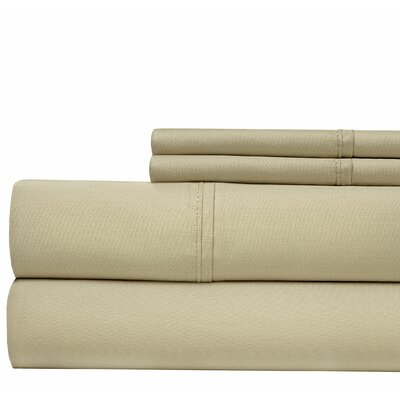 4 Piece 500 Thread Count Sheet Set Color: Stone, Size: Queen