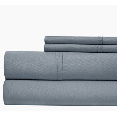 500 Thread Count Cotton Blend Sheet Set Color: Blue, Size: Queen
