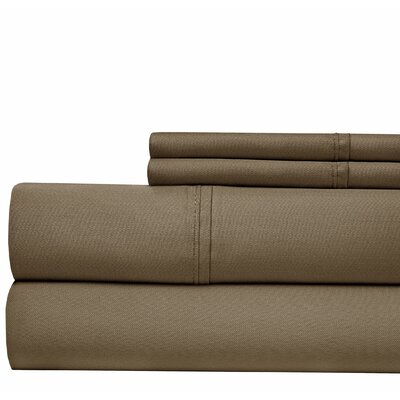 4 Piece 500 Thread Count Sheet Set Color: Wheat, Size: Queen