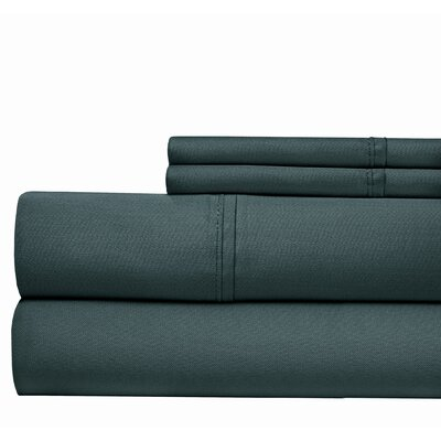 4 Piece 500 Thread Count Sheet Set Color: Teal, Size: California King