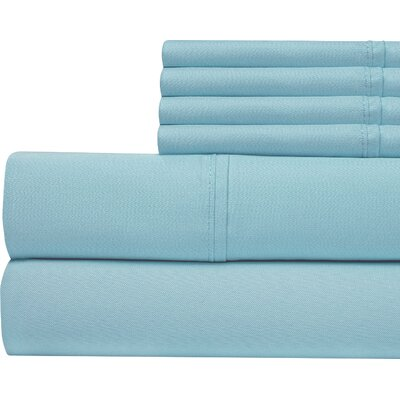 400 Thread Count Cotton Sateen Sheet Set Color: Blue, Size: Queen