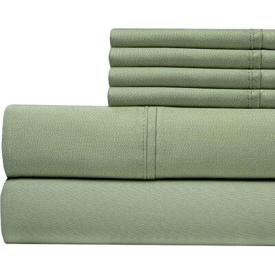 400 Thread Count Cotton Sateen Sheet Set Color: Sage, Size: Queen