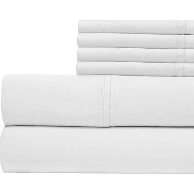400 Thread Count Cotton Sateen Sheet Set Size: King, Color: White