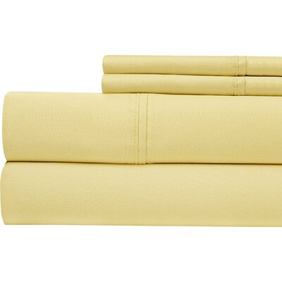 4 Piece 500 Thread Count Sheet Set Size: California King, Color: Gold