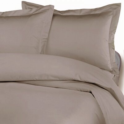 3 Piece Duvet Cover Set Size: King, Color: Stone