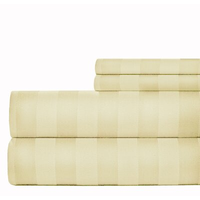 4 Piece 1000 Thread Count Sheet Set Size: King, Color: Ivory