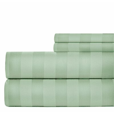 4 Piece 1000 Thread Count Sheet Set Color: Sage, Size: Queen
