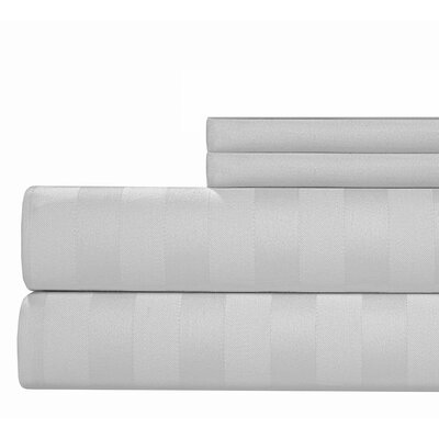 4 Piece 1000 Thread Count Sheet Set Color: White, Size: Queen