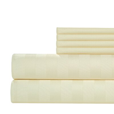 6 Piece 1000 Thread Count Sheet Set Size: Full, Color: Ivory
