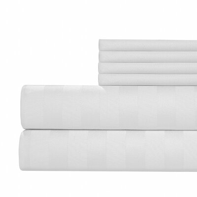 6 Piece 1000 Thread Count Sheet Set Size: California King, Color: White