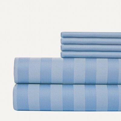6 Piece 1000 Thread Count Sheet Set Size: King, Color: Blue