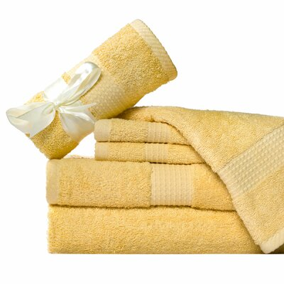 Supersoft 6 Piece Towel Set Color: Butter Yellow