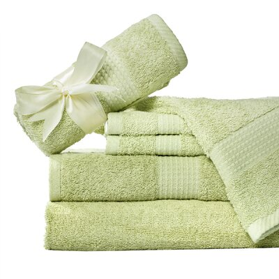 Supersoft 6 Piece Towel Set Color: Light Green