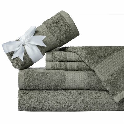Supersoft 6 Piece Towel Set Color: Gray