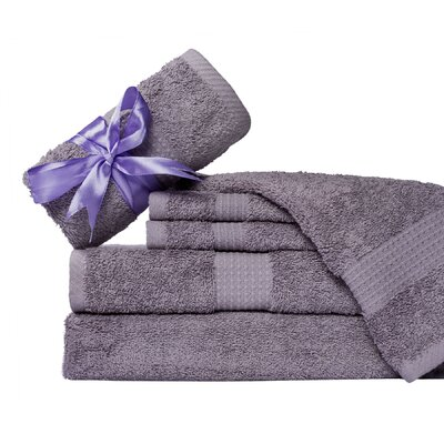 Supersoft 6 Piece Towel Set Color: Purple