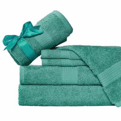 Supersoft 6 Piece Towel Set Color: Aqua Blue