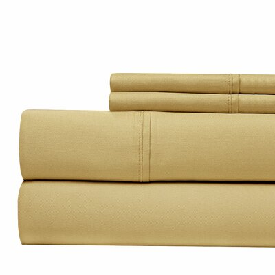 600 Thread Count 100% Cotton Sateen 4-piece Sheet Set Size: King, Color: Taupe