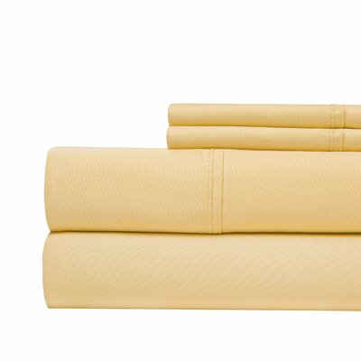 4 Piece 1000 Thread Count Sheet Set Color: Gold