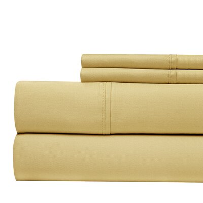630 Thread Count Egyptian Quality Cotton Sheet Set Size: Queen, Color: Gold