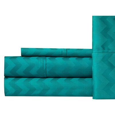 Elden 400 Thread Count 100% Cotton Sheet Set Size: King, Color: Blue