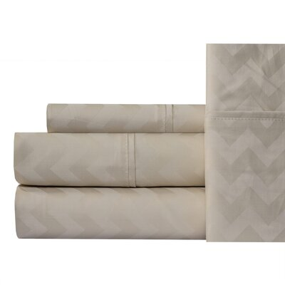 Jaelyn 400 Thread Count 100% Cotton Sheet Set Size: King, Color: Beige