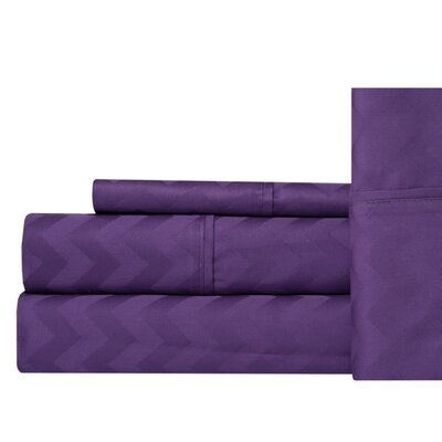 Elden 400 Thread Count 100% Cotton Sheet Set Size: King, Color: Lavender