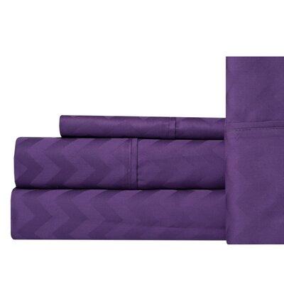 Jaelyn 400 Thread Count 100% Cotton Sheet Set Size: King, Color: Lavender