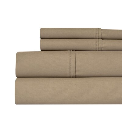 400 Thread Count 100% Pima Cotton Sheet Set Size: King, Color: Taupe