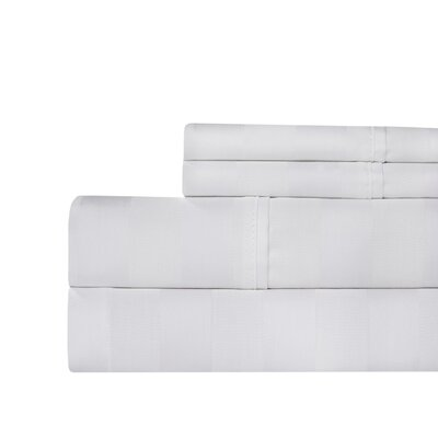 Berwyn 650 Thread Count Cotton 4-Piece Sheet Set Color: White, Size: King