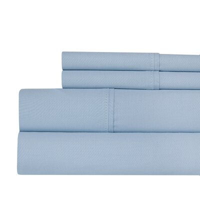 400 Thread Count 100% Pima Cotton Sheet Set Size: Queen, Color: Light Blue