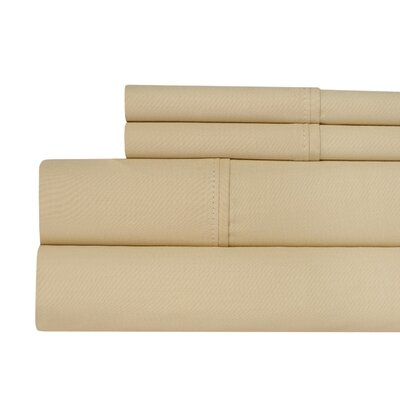 400 Thread Count 100% Pima Cotton Sheet Set Size: Queen, Color: Butter