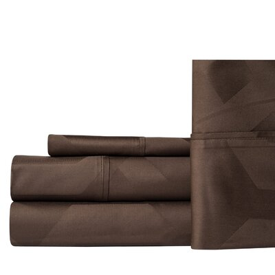 Worthville 400 Thread Count 100% Cotton Sheet Set Color: Chocolate, Size: Queen