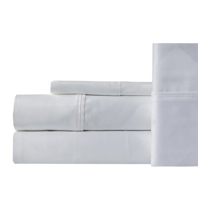 Worthville 400 Thread Count 100% Cotton Sheet Set Color: White, Size: King