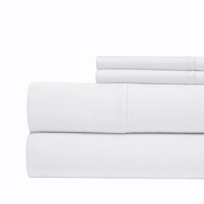 Tayler 500 Thread Count 100% Cotton Sheet Set Color: Navy Blue, Size: Queen