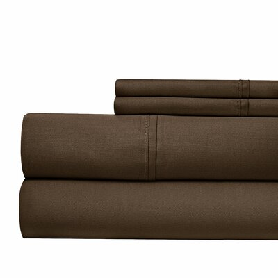 Tayler 500 Thread Count 100% Cotton Sheet Set Size: King, Color: Tan