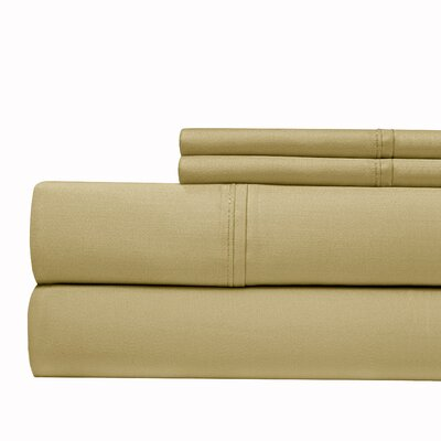 Tayler 500 Thread Count 100% Cotton Sheet Set Color: Ivory, Size: Queen