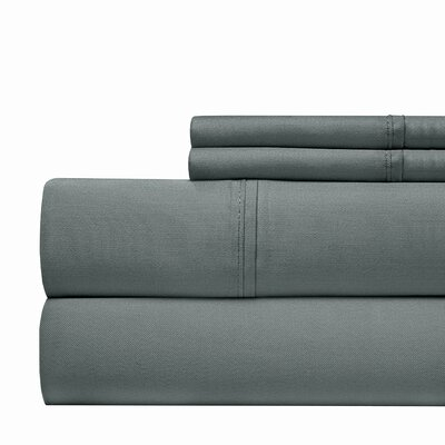 Tayler 500 Thread Count 100% Cotton Sheet Set Color: Blue, Size: Queen
