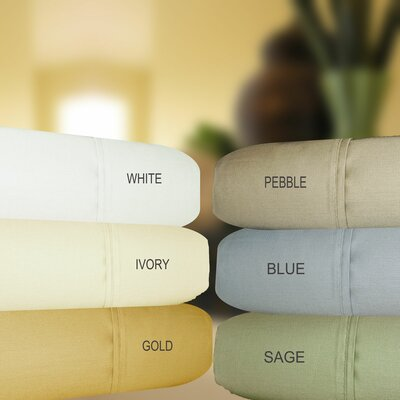 630 Thread Count Egyptian Quality Cotton Sheet Set Size: Queen, Color: Pebble