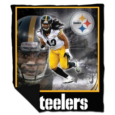 Biggshots Pittsburgh Steelers Snuggle Cover Troy Polamalu Polyester Flannel Throw Blanket at Sears.com