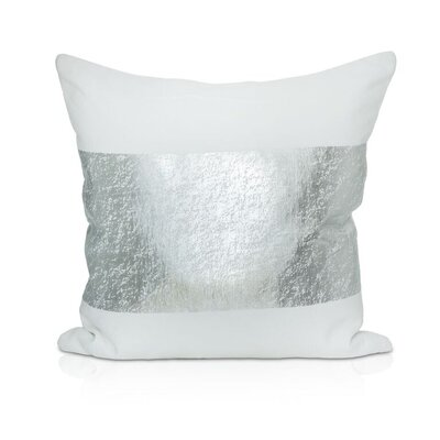 Kiran Throw Pillow Color: White/Silver