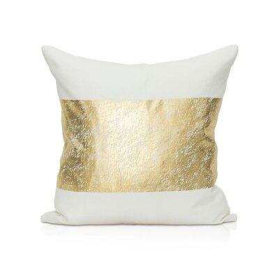 Kiran Throw Pillow Color: White/Gold