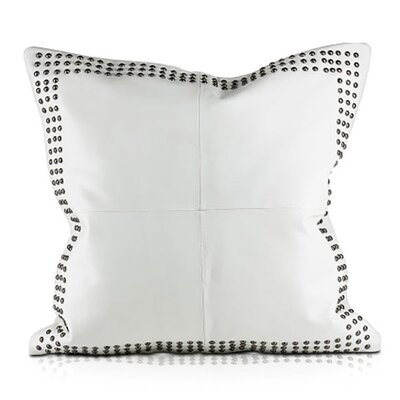 Dohni Leather Throw Pillow