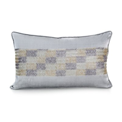 Laher Silk Lumbar Pillow Color: Light Grey